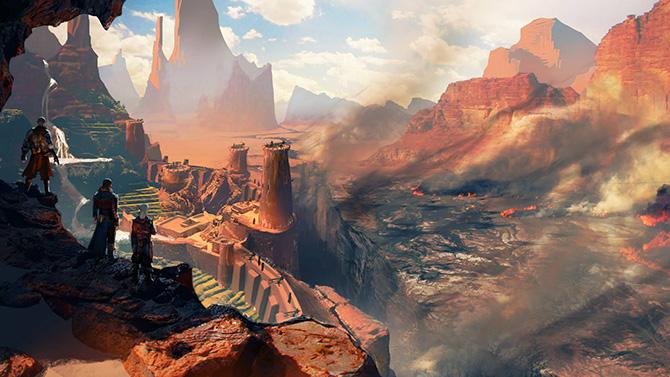 Vastos desertos são mostrados em telas de Dragon Age: Inquisition