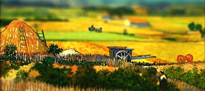 Fotografia com efeito tilt shift dão novo olhar para obras de Van Gogh