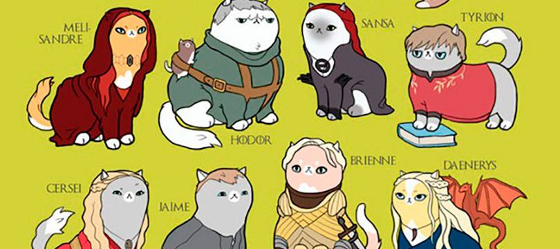 Personagens de programas de TV e filmes transformados em gatos