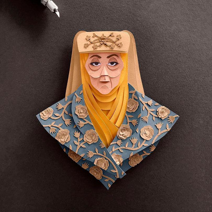 Personagens de Game of Thrones em papel