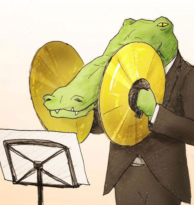 5 problemas musicais de um crocodilo