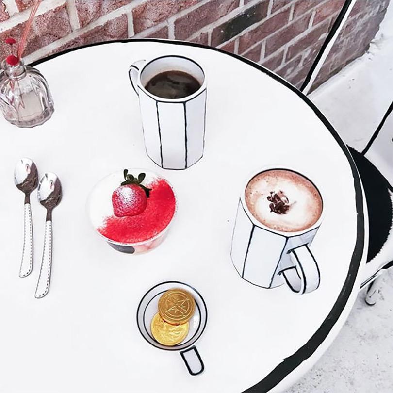 Cafe Yeonnam-dong, um café que parece feito de desenho a lápis