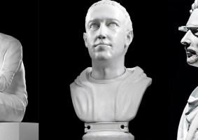Artista cria esculturas clássicas de personalidades atuais