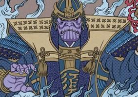 Vingadores: Ultimato em arte japonesa Ukyio-e