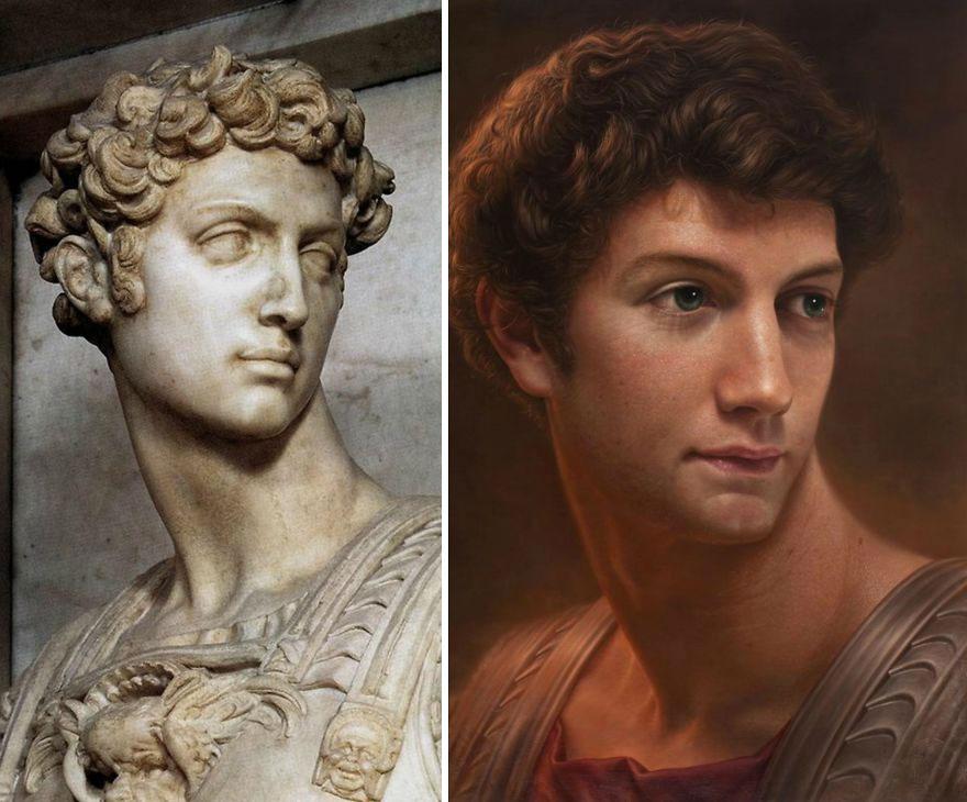 Artista recria arte clássica como retratos realistas