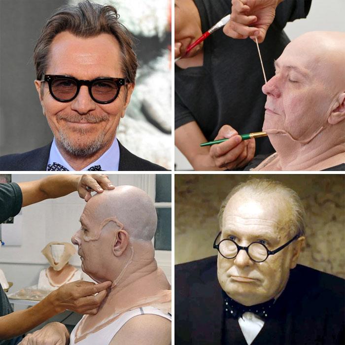 30 Antes e depois de maquiagens de Hollywood