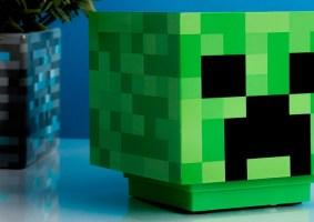 Uma lamparina do Minecraft Creeper