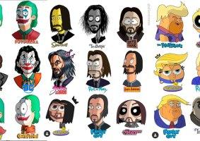 Celebridades em diversos estilos de desenhos animados