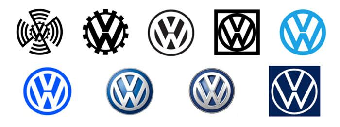 100 Pessoas desenharam logotipos de 10 companhias de carros