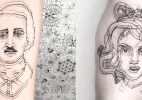 As tatuagens de ilusão de ótica de Yatzil Elizalde