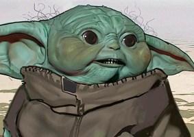 Os conceitos do Baby Yoda criados para a série Mandalorian