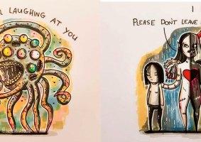 11 Transtornos Mentais como Monstros desenhados