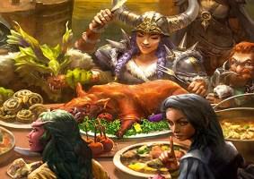 Um livro de receitas de Dungeons e Dragons, oficial