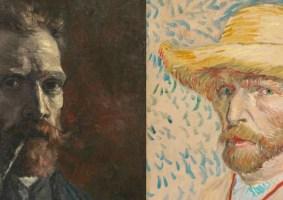Os autorretratos de Van Gogh em uma galeria online