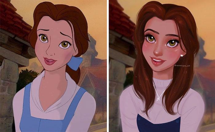 20 Personagens da Disney atualizados para a modernidade