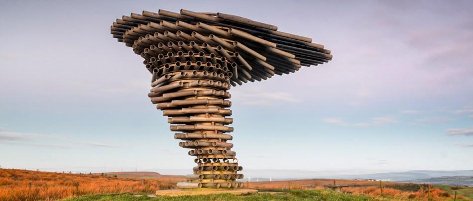 A fascinante escultura de árvore que canta com o vento