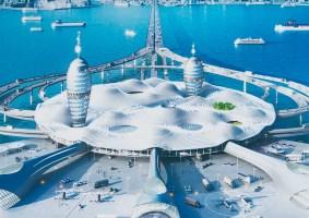 O projeto Porto Espacial futurista na Baía de Tóquio