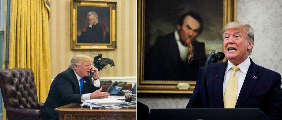 Galeria Peculiarium edita quadros de fundo de Donald Trump