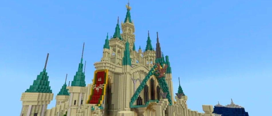 O impressionante Castelo de Hyrule construído no Minecraft