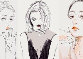 95 minimalistas desenhos de mulheres de cabelo curto