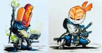 Artista retrata alimentos como personagens de RPG