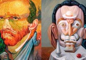 As artes surreais com cabeças de Oleg Shupliak