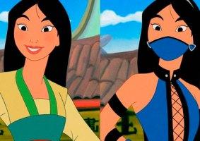 Um mashup entre Princesas da Disney e Mortal Kombat