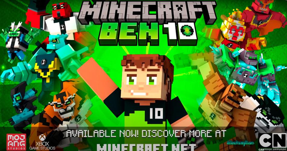 DLC do Ben 10 no Minecraft adiciona mais de 10 aliens jogáveis