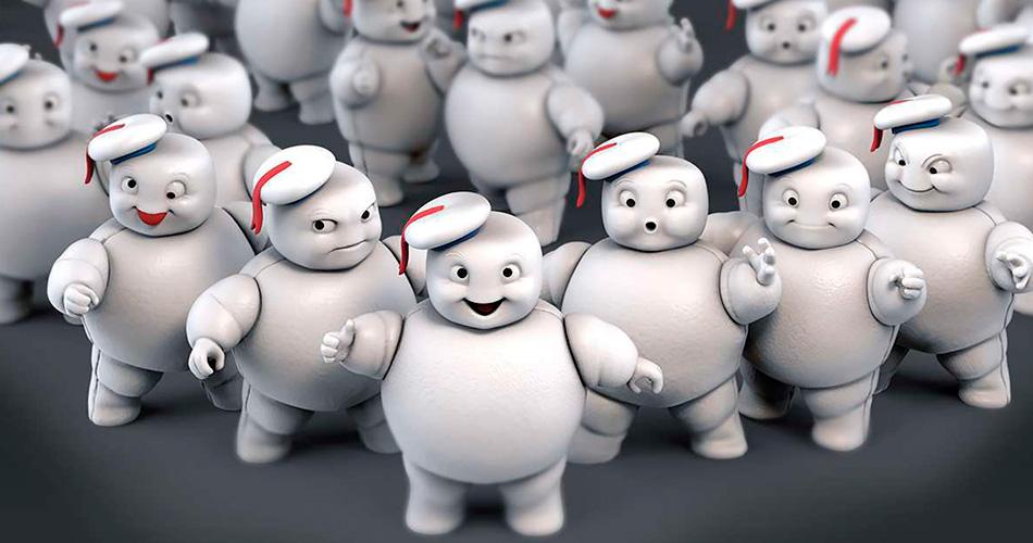 Brinquedo do Homem de Marshmallow vem do tamanho que vemos no novo filme
