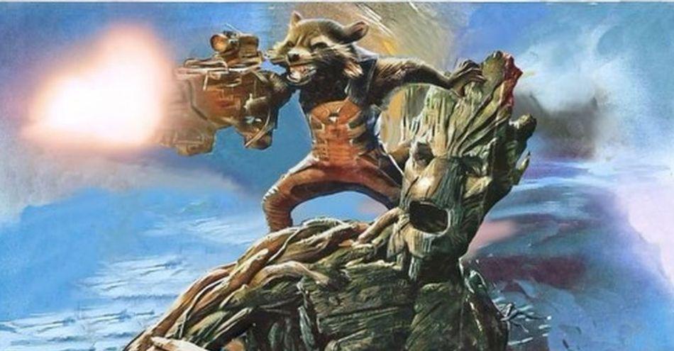 Groot e Rocket Racoon aparecem em pôster fandom em movimento
