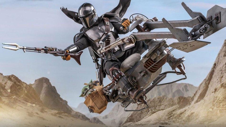 Hot Toys do Mandalorian traz Mando, Grogu e a Moto do seriado