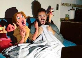 Artista insere personagens da Disney na vida cotidiana