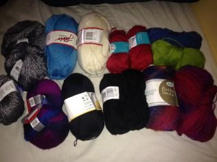 Sock yarns and syntetiskt mixes
