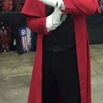 Man in Alucard cosplay from the anime Hellsing