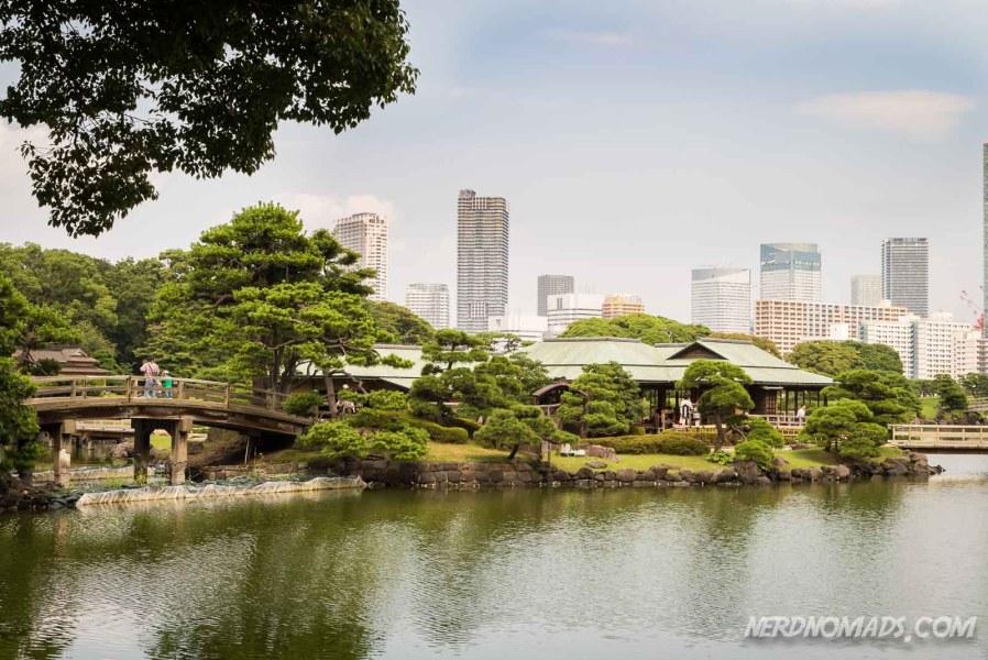 Hama-rikyu Garden in Ginza