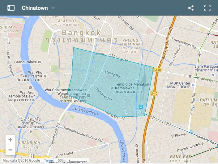 Where To Stay In Bangkok   Our Favourite Areas   Hotels Map of Chinatown