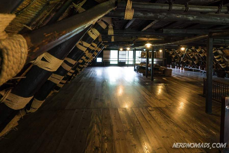 In the attic of Nagase House you can really study the roof of a gassho-zukuri house
