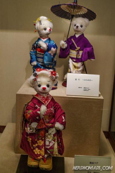 Japanese teddies in beautiful kimonos
