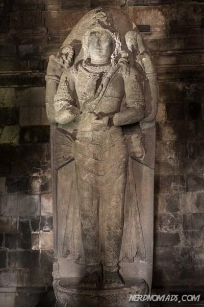 Statue of Vishnu in Vishnu temple