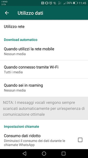 whatsapp disattivare autosave download automatico