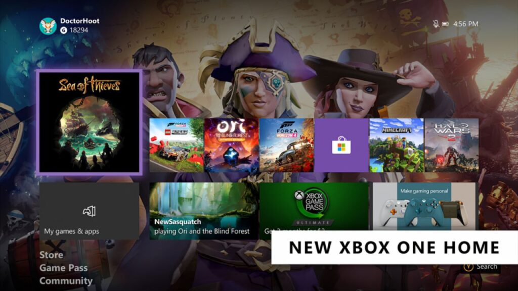 Xbox One dashboard Xbox Series X