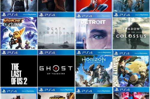 Catálogo dos exclusivos de PS4.