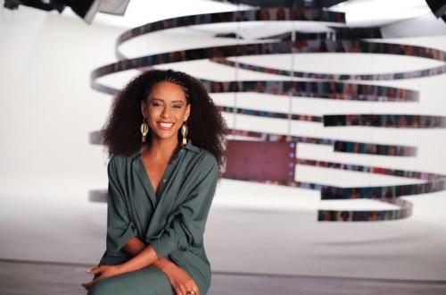 Taís Araújo como apresentadora do Superbonita
