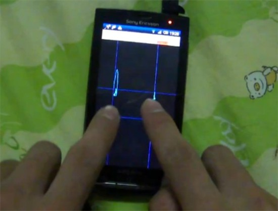 Sony Ericsson X10 Multitouch Hack