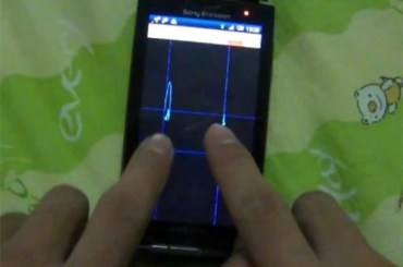 Sony Ericsson X10 Multitouch Hack