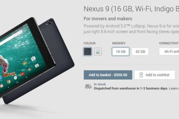 Google Nexus 9 on Play Store