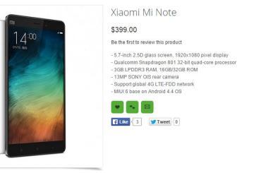 Xiaomi Mi Note Oppomart Price