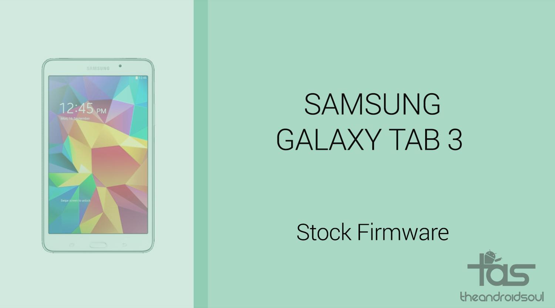 Galaxy tab S3 firmware