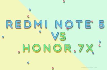 Redmi Note 5 vs Honor 7X
