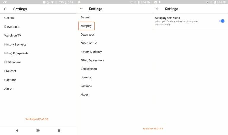 youtube autoplay option